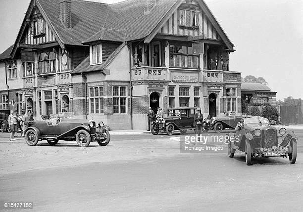 Cars at the North West London Motor Club Trial Osterley Park Hotel Isleworth 1 June 1929 Salmson 1087 cc Vehicle Reg No YW6553 No 3 Driver Rae VW...