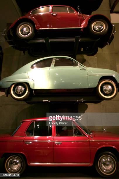 Cars at transportation exhibit, Science Museum.