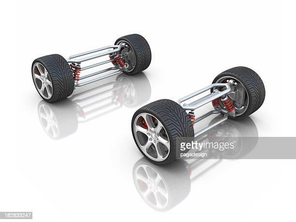 Voiture des essieux