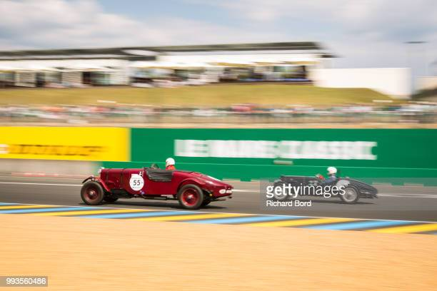 Cars compete during the Grid 1 race at Le Mans Classic 2018 on July 7 2018 in Le Mans France