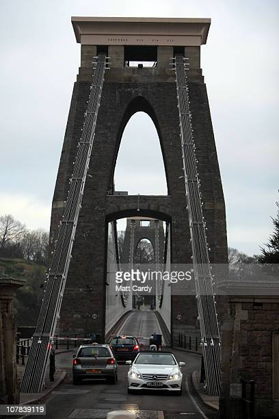 Cars cross Clifton Suspension Bridge which is close to the flat of Joanna Yeates the 25yearold landscape architect who was found dead on Christmas...