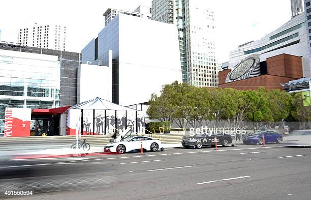 BMW cars displayed at the Vanity Fair New Establishment Summit at Yerba Buena Center for the Arts on October 6 2015 in San Francisco California