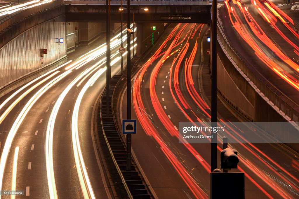 Cars drive along Mittlerer Ring on February 21, 2018 in Munich, Germany. The German Federal Court of Justice (Bundesgerichtshof) in Leipzig is due to rule tomorrow whether German cities may impose bans or partial bans on diesel cars in order to bring down emissions levels. While the court is deciding on the measures for Stuttgart and Dusseldorf, the ruling will set an important precedent, especially for Munich, which in 2017 had the highest levels of nitrogen oxides (NO2) of any city in Germany. A total of 70 German cities are struggling to bring down their emissions in order to conform to European Union-mandated levels.