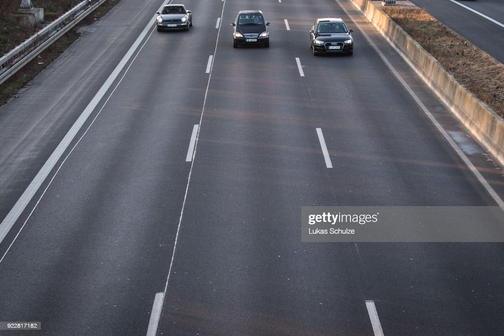 Cars drive along the A52 on February 22, 2018 in Duesseldorf, Germany. The German Federal Court of Justice (Bundesgerichtshof) in Leipzig is due to rule today whether German cities may impose bans or partial bans on diesel cars in order to bring down emissions levels. While the court is deciding on the measures for Stuttgart and Dusseldorf, the ruling will set an important precedent, especially for Munich, which in 2017 had the highest levels of nitrogen oxides (NO2) of any city in Germany. A total of 70 German cities are struggling to bring down their emissions in order to conform to European Union-mandated levels.