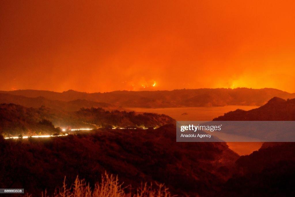 Thomas Fire in California : News Photo