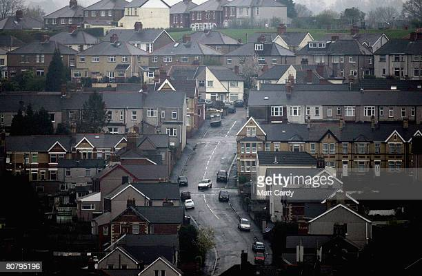 Cars drive down residential streets on April 21 2008 in Newport Wales A poll by researchers Fitch has revealed 10 subprime blackspots across the UK...