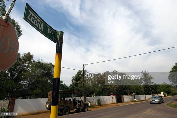 Cars drive down Zebra Way in Gaborone on October 16 2009 one of the shooting locations of the successful No1 Ladies' Detective Agency novels which...