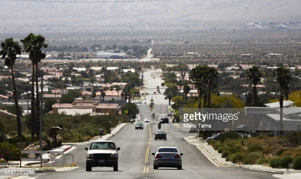 Cars drive in the Coachella Valley on May 7 2019 in Desert Hot Springs California California's Fourth Climate Change Assessment found that...