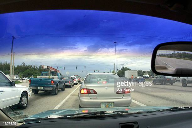 Cars drive near the dangerous intersection of Flamingo Road and Pines Boulevard June 27 2001 in Pembroke Pines FL According to State Farm Insurance...