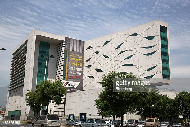 Cars drive past Cemex SAB headquarters in Monterrey Mexico on Thursday April 9 2015 Mexico's third largest city where the Zetas drug gang once set...