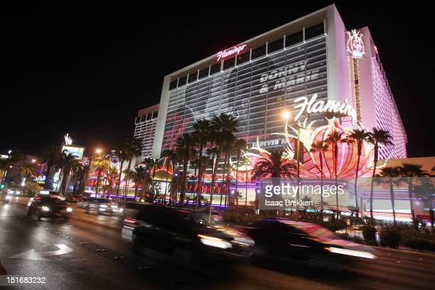 Cars drive past The Flamingo Las Vegas hotel on September 9, 2012 in Las Vegas, Nevada. According to reports, an AFL player of Port Adelaide died...