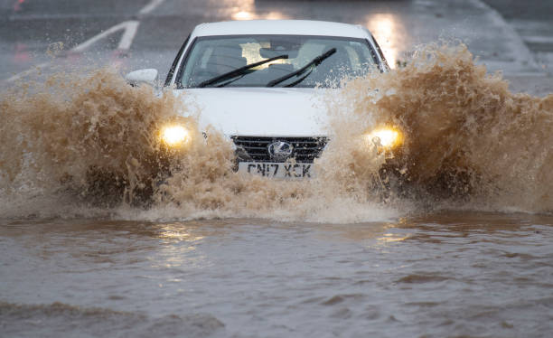 GBR: Wet Weather In Wales Heralds Arrival Of Storm Jorge This Weeked