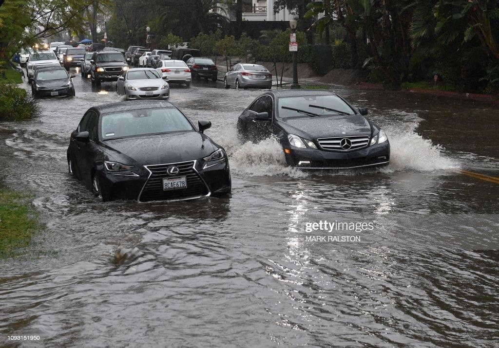 US-WEATHER-RAINS : News Photo