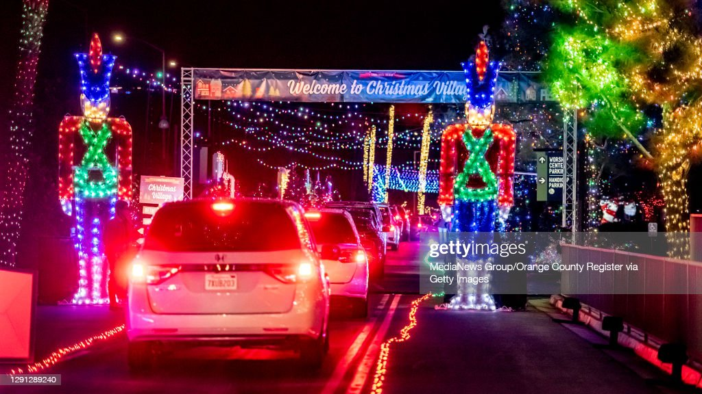 Drive-thru Christmas Light Display At Saddleback Church : News Photo