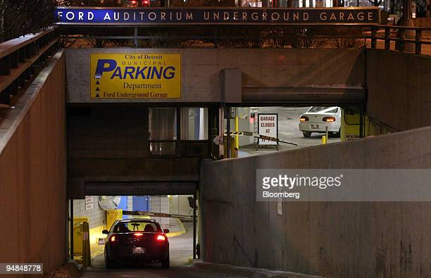 Cars enter the City of Detroit's Ford Auditorium Underground Garage in Detroit Michigan Friday January 21 2005 Ronald Ruffin Detroit's director of...