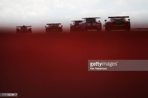 Cars exit Copse during the FIA World Endurance Championship race at Silverstone Circuit on September 01 2019 in Northampton England