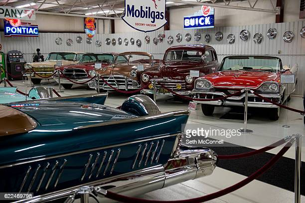 Cars from the 1950's and 60's at the Cussler Car Museum in Arvada Colorado on November 9 2016 Clive Cussler is the author of a popular book series...