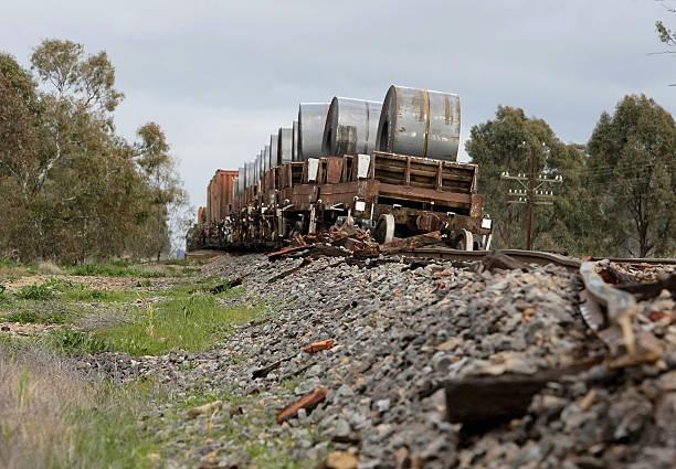 Freight Train Derailment Causes Train Line Closures Photos and