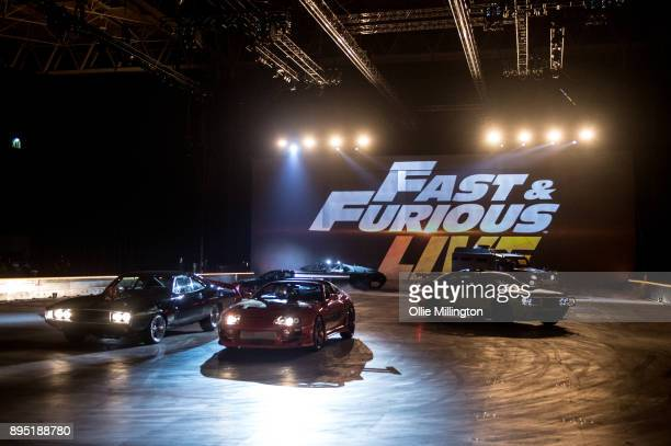 Cars from the show including the a 1994 Toyota Supra MK IV used on screen by Paul Walker in The Fast and the Furious the Ice Charger version of the...