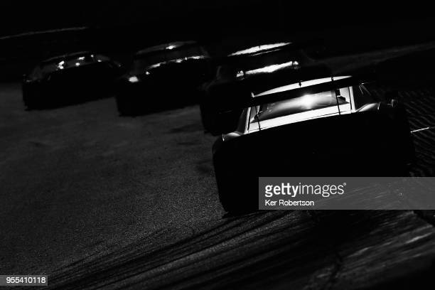 Cars head along the Cooper Straight during the Blancpain GT Series Sprint Cup at Brands Hatch on May 6th 2018 in Longfield England