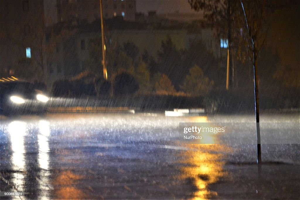 Heavy Rain Falls in Ankara
