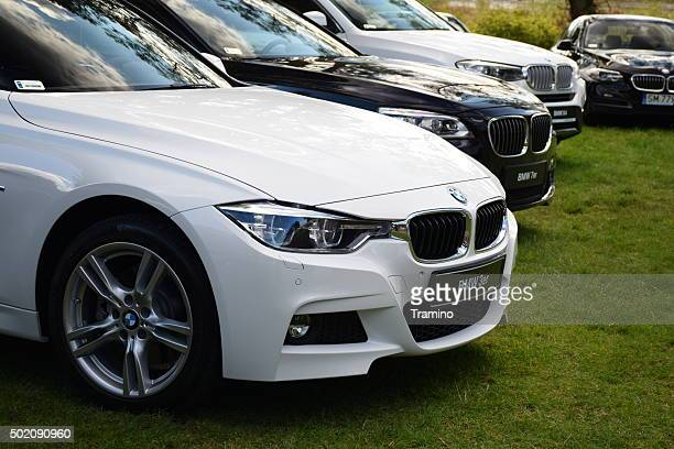 BMW cars in a row