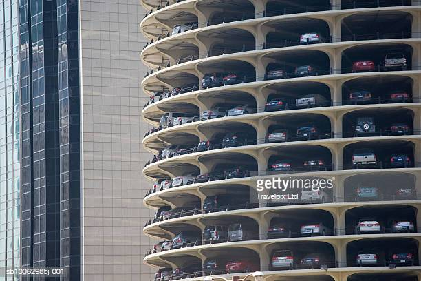cars in multilevel car park - large group of objects stock pictures, royalty-free photos & images
