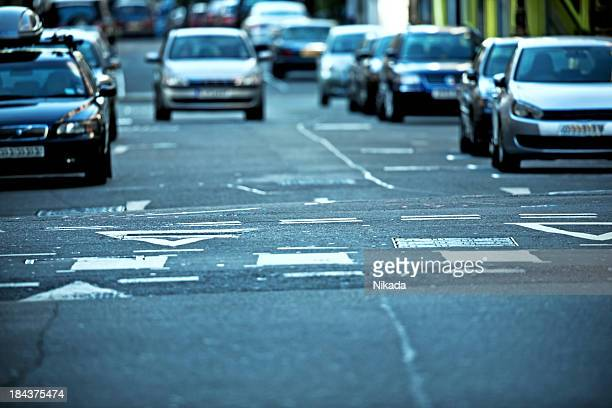 Cars in the street