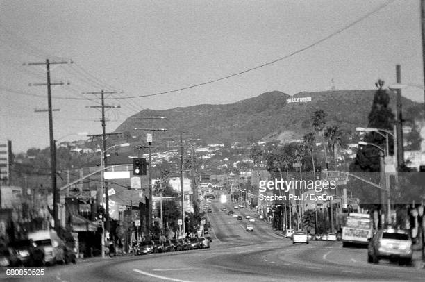 Cars Leading Towards Hollywood Hills