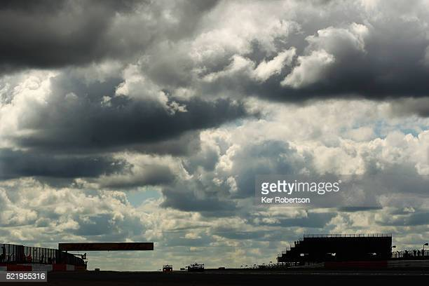 Cars leave Copse on the way to Maggots during the FIA World Endurance Championship Six Hours of Silverstone race at the Silverstone Circuit on April...