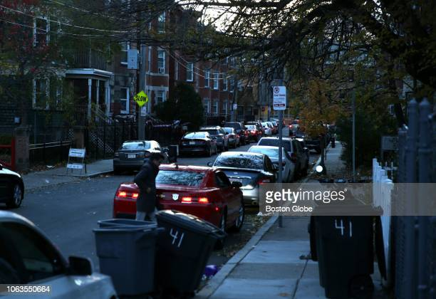 Cars line Charles Street in the Dorchester neighborhood of Boston where Alicia Restrepo was shot and killed in October on Nov 15 2018 Restrepo was...