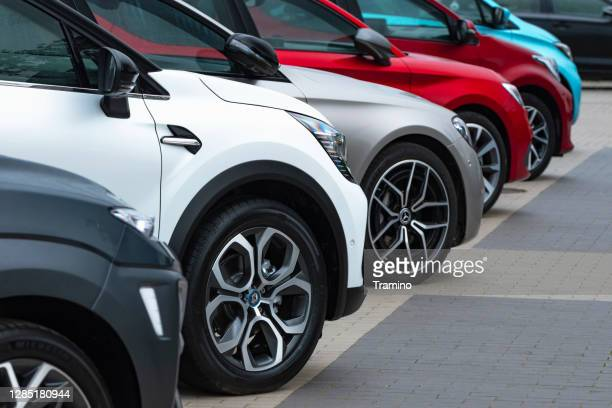 cars on a parking - car stock pictures, royalty-free photos & images