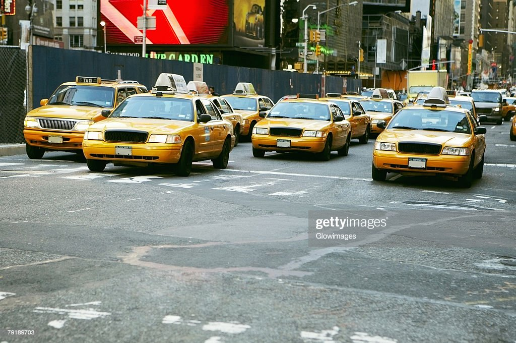 Cars on a road, Times Square, Manhattan, New York City, New York State, USA : Foto de stock