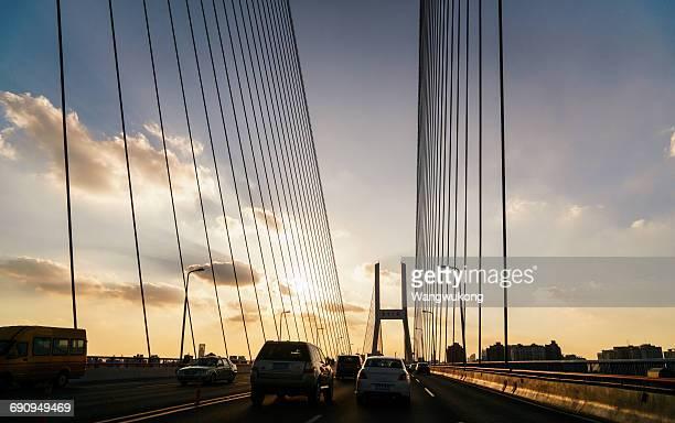 cars on the bridge