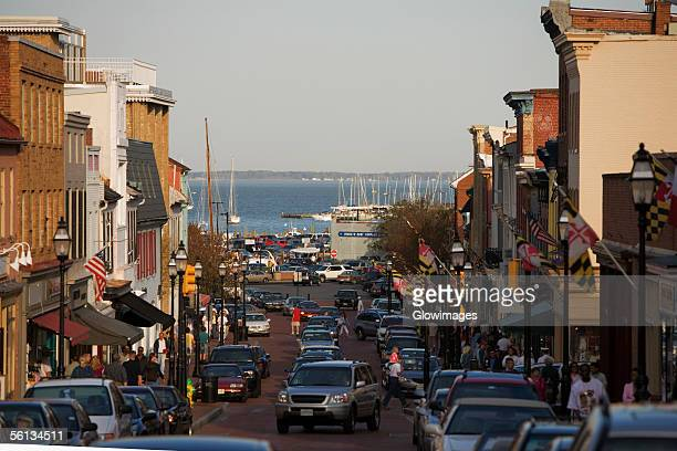 Cars on the street, Annapolis, Maryland, USA