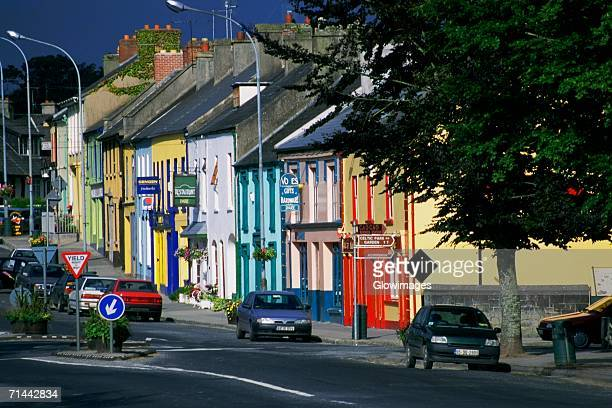 Cars parked in front of a building, Adare, Republic of Ireland