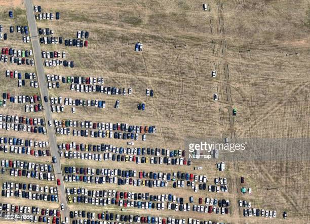 cars parked together from above - canberra stock pictures, royalty-free photos & images