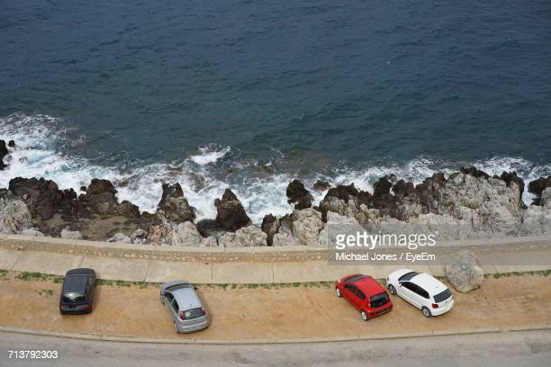 Cars Parking Close To The Coast