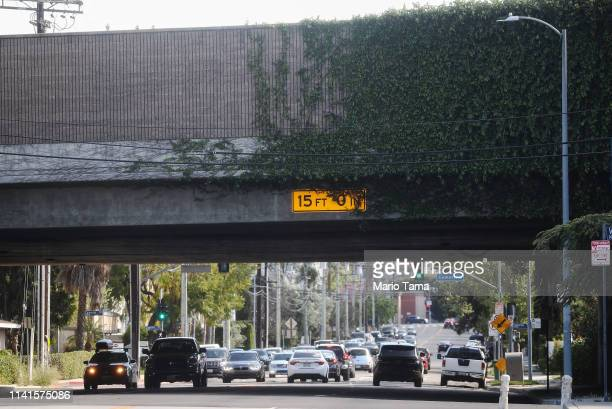 Cars pass beneath the bridge rated the most highlytraveled and structurally deficient in the nation on April 09 2019 in Sherman Oaks California More...