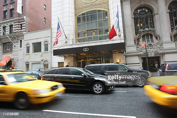 Cars pass outside the Sofitel Hotel, where International Monetary Fund Managing Director Dominique Strauss-Kahn allegedly sexually assaulted a hotel...