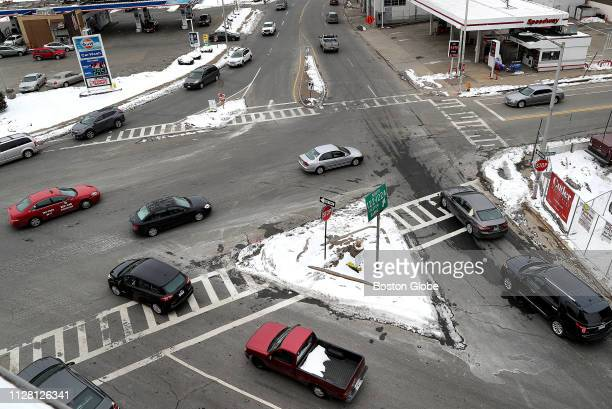Cars pass through Kelley Square in Worcester what might be the most confusing and dangerous intersection in Massachusetts on Feb 20 2019 Soon the web...