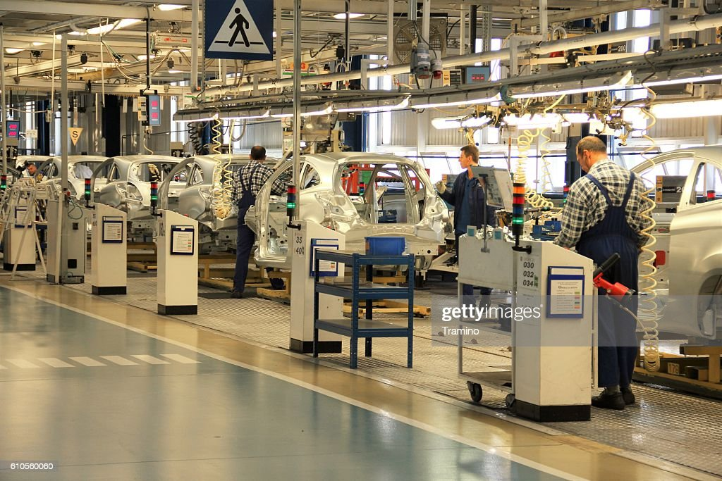 Cars production line : Stock Photo