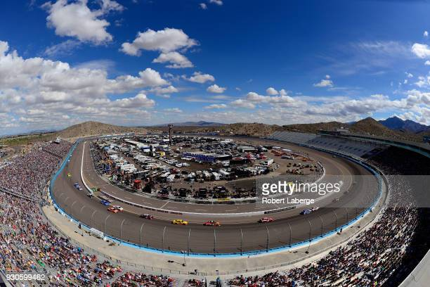 Cars race during the Monster Energy NASCAR Cup Series TicketGuardian 500 at ISM Raceway on March 11 2018 in Avondale Arizona