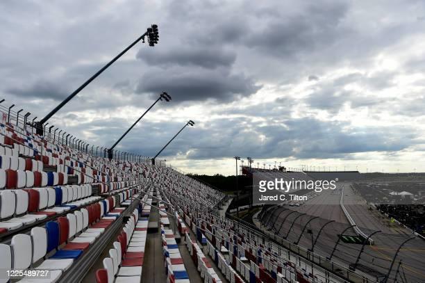Cars race during the NASCAR Cup Series The Real Heroes 400 at Darlington Raceway on May 17 2020 in Darlington South Carolina NASCAR resumes the...