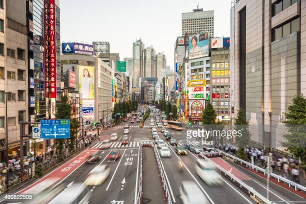 CONTENT] Cars rushing in Shinjuku one of the main important business district of Tokyo the capital city of Japan