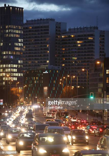 Cars stream along Leipziger Strasse in the city center on January 30 2018 in Berlin Germany A scandal has broken over a lobbying firm called the EUTG...