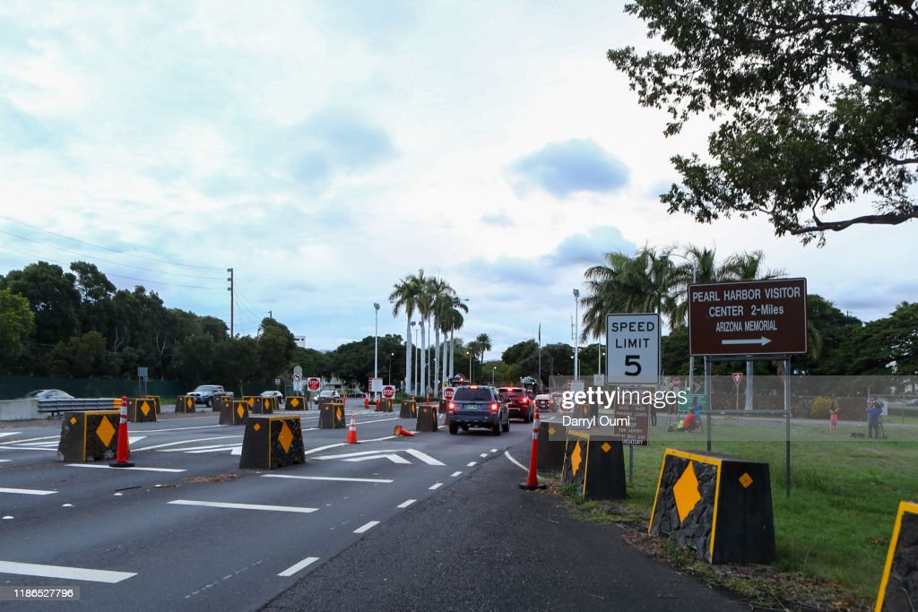 Three People Shot At Pearl Harbor Naval Shipyard Leaves In Hawaii : News Photo