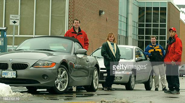 CARS1/07/03Mathieu Yuill third from left is an editor of the Courier Centennial College's campus newspaper Yuill and several other students including...