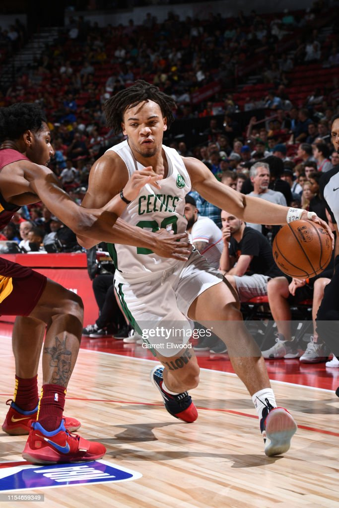 Carsen Edwards Of The Boston Celtics Handles The Ball Against The