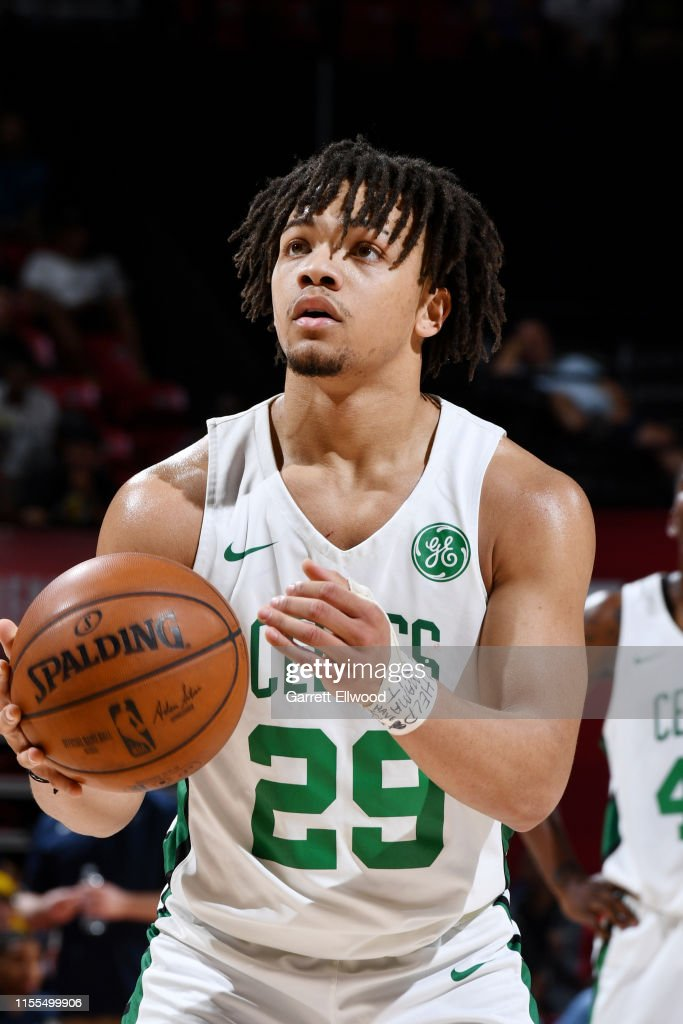 Carsen Edwards Of The Boston Celtics Shoots A Free Throw During The